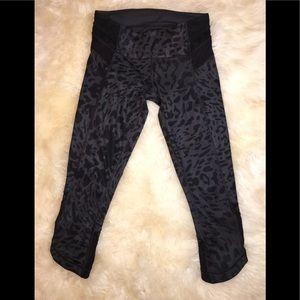 Lululemon Capri Leggings Cheetah Print  and Mesh